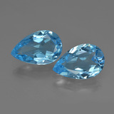 thumb image of 9.9ct Pear Facet Swiss Blue Topaz (ID: 409406)