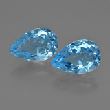 thumb image of 10.5ct Pear Facet Swiss Blue Topaz (ID: 409408)