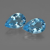 thumb image of 9.1ct Pear Facet Swiss Blue Topaz (ID: 409409)
