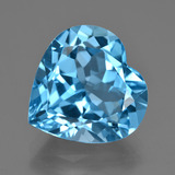 thumb image of 15.1ct Heart Facet Swiss Blue Topaz (ID: 409500)