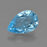 thumb image of 4.7ct Pear Facet Swiss Blue Topaz (ID: 409714)