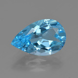 thumb image of 4.6ct Pear Facet Swiss Blue Topaz (ID: 409715)