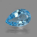 thumb image of 5.1ct Pear Facet Swiss Blue Topaz (ID: 409717)