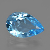 thumb image of 4.8ct Pear Facet Swiss Blue Topaz (ID: 409810)