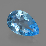thumb image of 4.8ct Pear Facet Swiss Blue Topaz (ID: 409811)