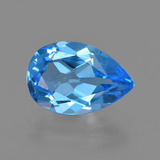 thumb image of 3.5ct Pear Facet Swiss Blue Topaz (ID: 409836)