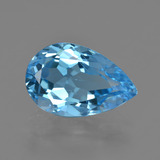thumb image of 5.4ct Pear Facet Swiss Blue Topaz (ID: 409852)