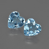 thumb image of 3.7ct Heart Facet Swiss Blue Topaz (ID: 409957)