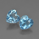 thumb image of 3.8ct Heart Facet Swiss Blue Topaz (ID: 410034)