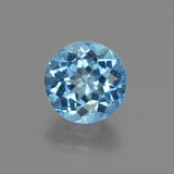 thumb image of 3.5ct Round Facet Swiss Blue Topaz (ID: 413884)