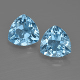 thumb image of 5.2ct Trillion Facet Swiss Blue Topaz (ID: 413988)