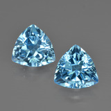 thumb image of 5.7ct Trillion Facet Swiss Blue Topaz (ID: 413990)