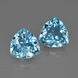 thumb image of 5.4ct Trillion Facet Swiss Blue Topaz (ID: 413995)