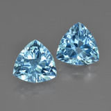 thumb image of 5.3ct Trillion Facet Swiss Blue Topaz (ID: 413996)