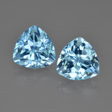 thumb image of 5.5ct Trillion Facet Swiss Blue Topaz (ID: 413997)