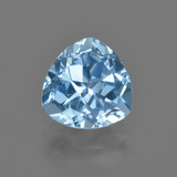 thumb image of 3.2ct Trillion Facet Swiss Blue Topaz (ID: 414124)