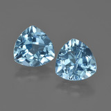 thumb image of 5.6ct Trillion Facet Swiss Blue Topaz (ID: 414256)