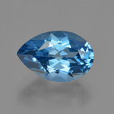 thumb image of 4.1ct Pear Facet London Blue Topaz (ID: 414674)