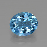 thumb image of 3ct Oval Facet Swiss Blue Topaz (ID: 414971)