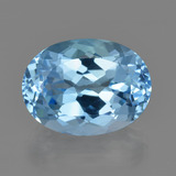 thumb image of 23.2ct Oval Facet Sky Blue Topaz (ID: 415309)