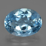 thumb image of 22.6ct Oval Facet Swiss Blue Topaz (ID: 415376)