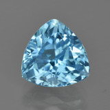 thumb image of 4.4ct Trillion Facet Swiss Blue Topaz (ID: 415573)