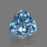 thumb image of 4.1ct Trillion Facet Swiss Blue Topaz (ID: 415873)
