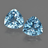 thumb image of 7.9ct Trillion Facet Swiss Blue Topaz (ID: 416086)