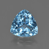 thumb image of 3.9ct Trillion Facet Swiss Blue Topaz (ID: 416228)