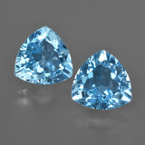 thumb image of 7.3ct Trillion Facet Swiss Blue Topaz (ID: 416540)