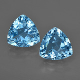 thumb image of 7.3ct Trillion Facet Swiss Blue Topaz (ID: 416544)