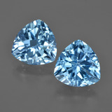 thumb image of 7.5ct Trillion Facet Swiss Blue Topaz (ID: 416545)