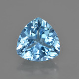thumb image of 3.8ct Trillion Facet Swiss Blue Topaz (ID: 417080)