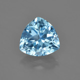 thumb image of 3.4ct Trillion Facet Swiss Blue Topaz (ID: 417118)