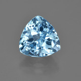 thumb image of 4.2ct Trillion Facet Swiss Blue Topaz (ID: 417122)