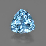 thumb image of 4.1ct Trillion Facet Swiss Blue Topaz (ID: 417125)