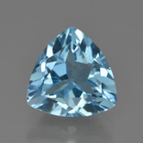 thumb image of 3.7ct Trillion Facet Swiss Blue Topaz (ID: 417462)