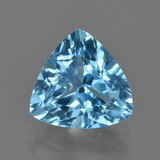 thumb image of 3.7ct Trillion Facet Swiss Blue Topaz (ID: 417464)