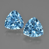thumb image of 7.4ct Trillion Facet Swiss Blue Topaz (ID: 417500)