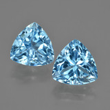 thumb image of 8.1ct Trillion Facet Swiss Blue Topaz (ID: 417502)