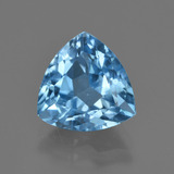 thumb image of 4.2ct Trillion Facet Swiss Blue Topaz (ID: 417549)