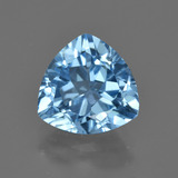 thumb image of 3.6ct Trillion Facet Swiss Blue Topaz (ID: 417576)