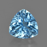 thumb image of 4.2ct Trillion Facet Swiss Blue Topaz (ID: 417690)