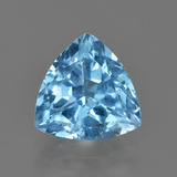 thumb image of 3.8ct Trillion Facet Swiss Blue Topaz (ID: 417691)