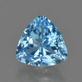 thumb image of 4.1ct Trillion Facet Swiss Blue Topaz (ID: 417692)