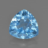 thumb image of 3.5ct Trillion Facet Swiss Blue Topaz (ID: 417900)