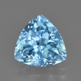 thumb image of 3.7ct Trillion Facet Swiss Blue Topaz (ID: 417903)