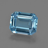 thumb image of 3.8ct Octagon Facet Swiss Blue Topaz (ID: 418482)
