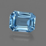 thumb image of 3.4ct Octagon Facet Swiss Blue Topaz (ID: 418500)