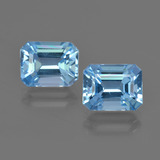 thumb image of 5.9ct Octagon Facet Swiss Blue Topaz (ID: 419193)